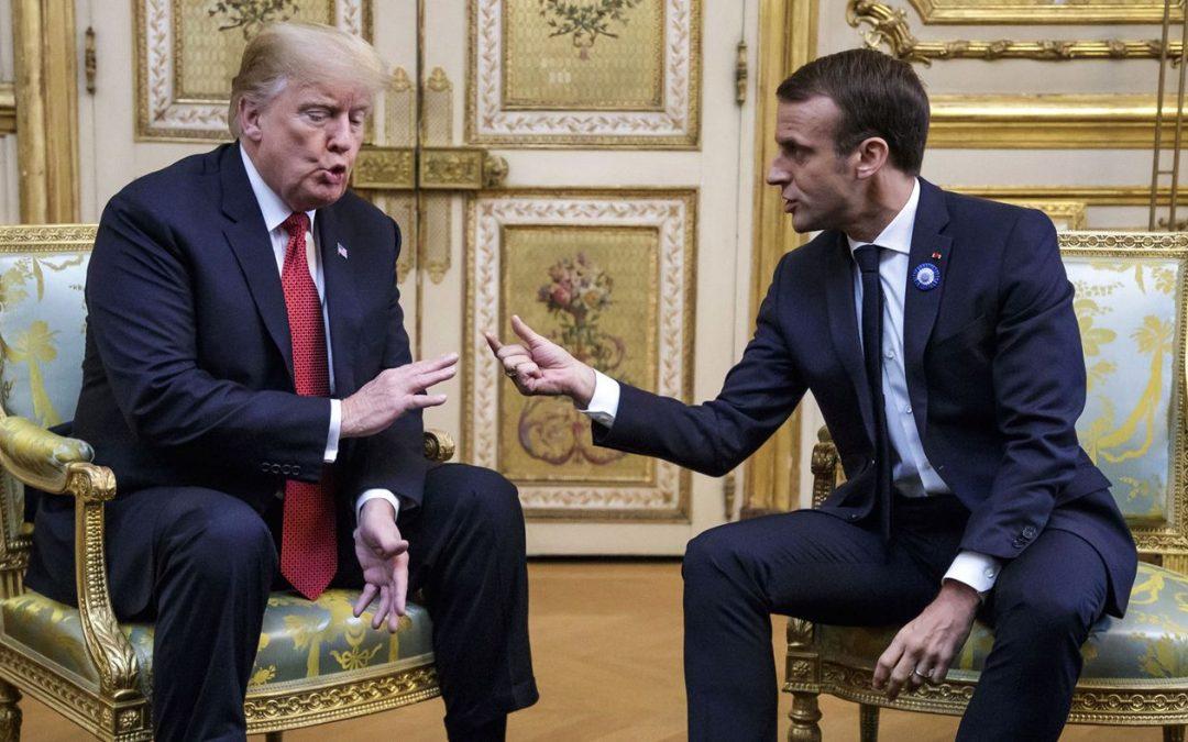 Сблъсъкът между Тръмп и Макрон в Париж