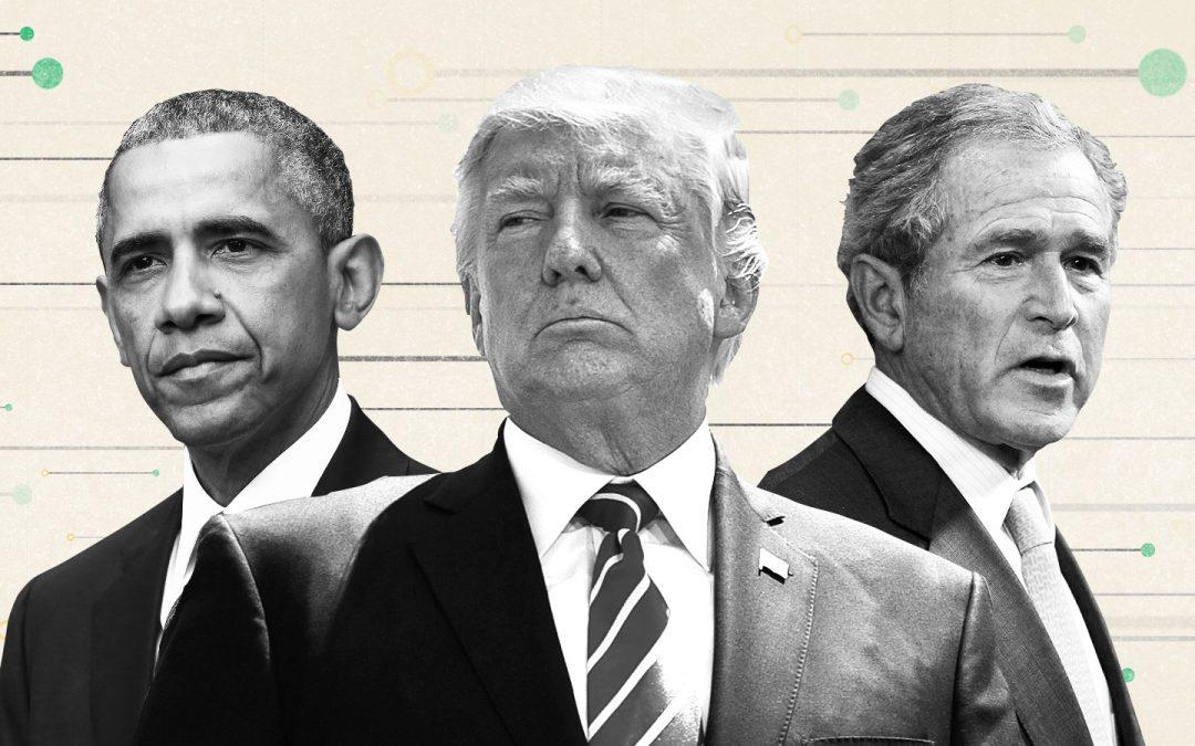 Имперското президентство и унитарната изпълнителна власт: Буш, Обама и Тръмп