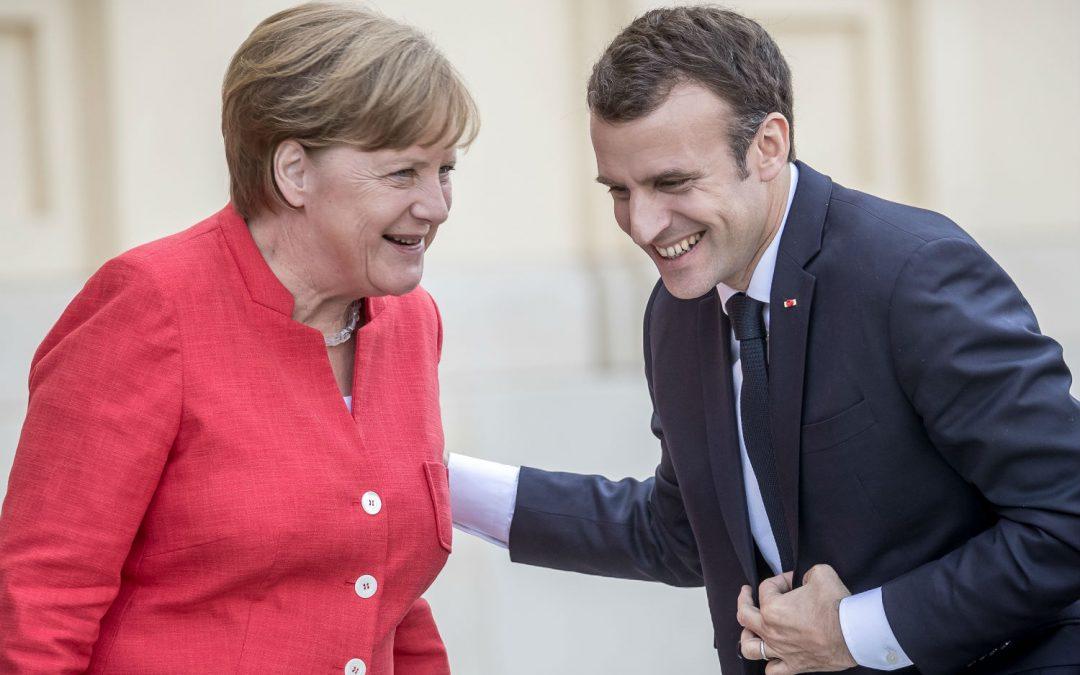 Не мускулни, но германски: крампите в евромарша на Макрон