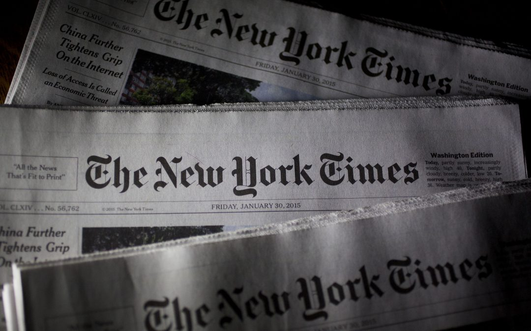 Оставки в Ню Йорк Таймс заради цензура на десните мнения и болшевишки тормоз